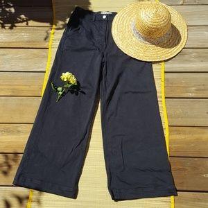 Everlane Cropped Wide Leg Pants